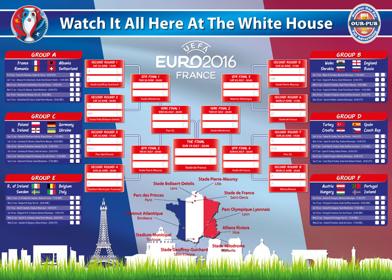 The Euro 2016 Ad-Pack - Advertise Your Pub Our-Pub.co.uk