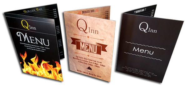 Menu Design Amp Menu Printing Services Prices Our Pub Co