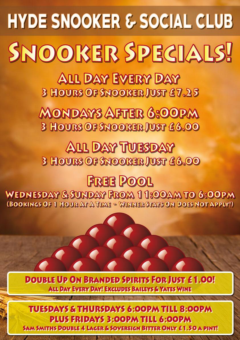 Snooker-Special